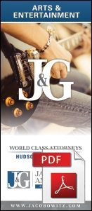 A brochure covering arts and entertainment employment law from Jacobowitz & Gubits, LLP in Walden, NY