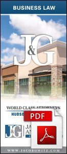 A PDF copy of a business law brochure provided by Jacobowitz & Gubits, LLP in Walden, NY