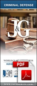 A brochure on criminal defense law provided by Jacobowitz & Gubits, LLP in Walden, NY