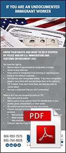 An infographic listing the rights of immigrants in the US provided by Jacobowitz & Gubits, LLP in Walden, NY